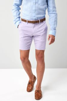 Belted Oxford Shorts