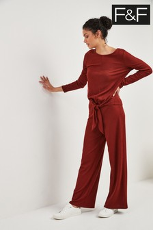 F&F Red Ribbed Trouser