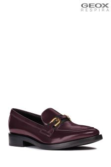 Geox Brogue Burgundy And Black Horsebit Loafer