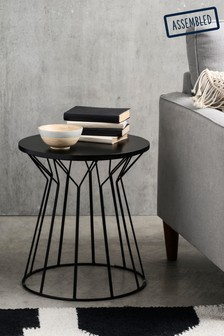 Modine Black Side Table