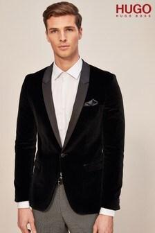 HUGO Black Velvet Tuxedo Jacket