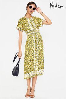 Boden Mimosa Yellow Random Spot Esmeralda Dress
