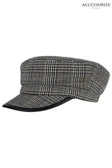 Accessorize Check Baker Boy Hat