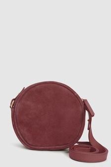 Leather Mini Circle Bag