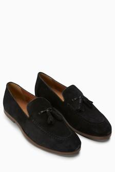 Замшевые туфли с бахромой