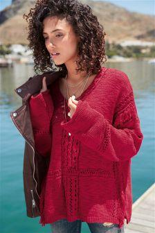 Fringe V-Neck Sweater