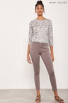 Mint Velvet Orlando Mocha Crop Skinny Jean