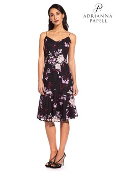 Adrianna Papell Purple Pinot Noir Floral Sequin Dress