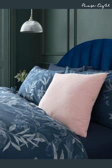 Phase Eight At Next Pink 100% Cotton Velvet Embroidered Spot Cushion