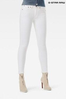 G-Star 3301 Mid Skinny White Super Stretch Jeans