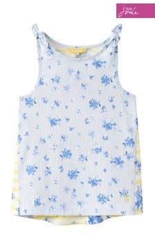 Joules Blue Floral Vest