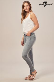 7 For All Mankind The Skinny Slim Illusion Grey Jean