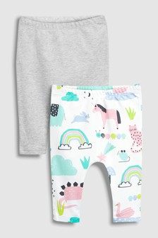 Character Print Leggings Two Pack (0mths-2yrs)