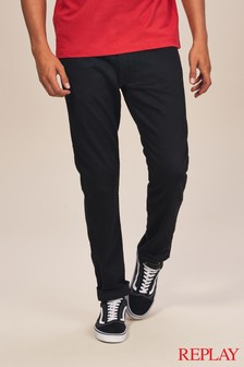 Replay® Black Anbass Slim Fit Jean