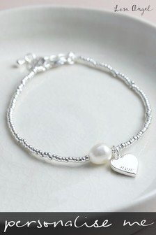 Personalised Dainty Seed Bead And Pearl Bracelet by Lisa Angel