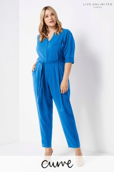 Live Unlimited Blue Leola Jumpsuit