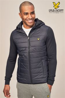 Lyle & Scott Sport Black Grasmoor Quilted Body Jacket