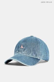 Jack Wills Enfield Denim-Cap, hellblau