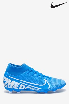 Nike Blue Superfly Club Firm Ground Football Boots