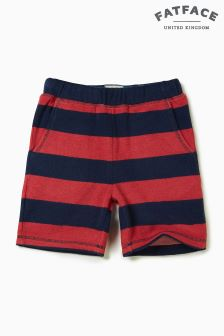FatFace Washed Red Stripe Towel Short