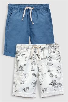 Shark Print Shorts Two Pack (3-16yrs)