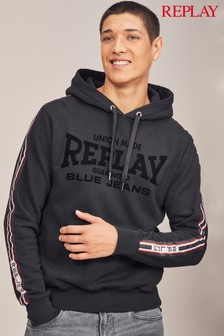 Replay® Black Logo Sport Overhead Hoody