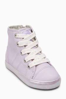 Lace-Up High Top Trainers (Younger)