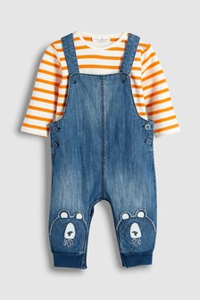 Bear Dungaree And Bodysuit Set (0mths-2yrs)