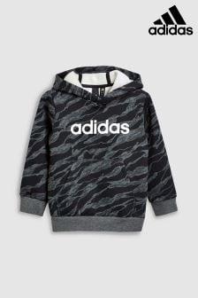 Adidas Grey Camo Linear Hoody
