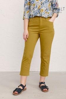 Seasalt Yellow Catkin Albert Quay Crop Trousers