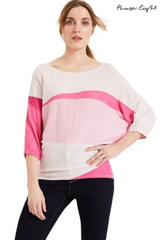 Phase Eight Pink Carly Colourblock Knit