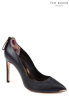Ted Baker Black Leather Livlia Pointed Court