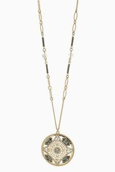 Sparkle Detail Long Pendant Necklace