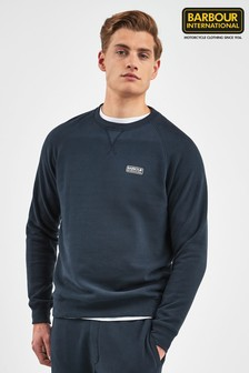 Barbour® International Navy Essential Crew Sweater
