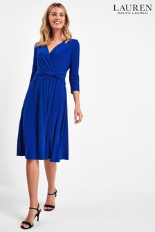 Lauren Ralph Lauren® Deep Blue Wrap Zanahary Dress