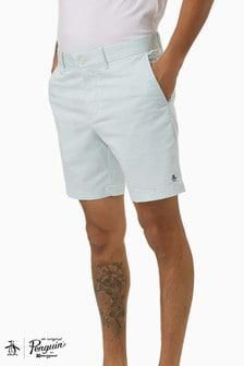 מכנס קצר עם לוגו של Original Penguin® מדגם 8 Basic בצבע כחול