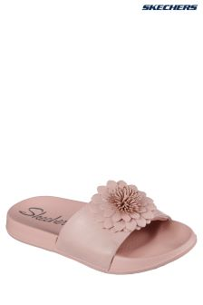 Skechers® Pink 2nd Take Flower Shower Slider