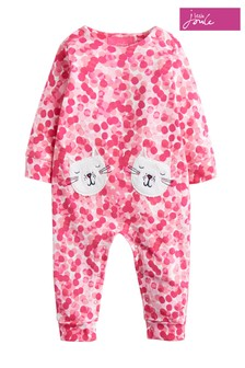 Joules Pink Gracie Footless Babygrow