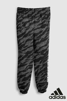 adidas Grey Camo Linear Joggers