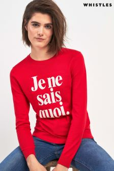 Whistles Red Je Ne Sais Quoi Jumper