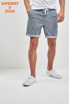 Superdry Blue Stripe Short
