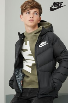 Nike Black Down Parka
