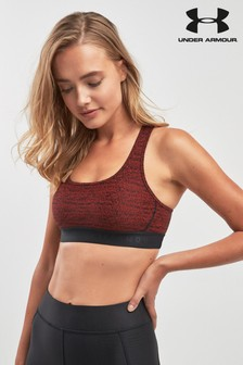 Under Armour Crossback Red Jacquard Bra