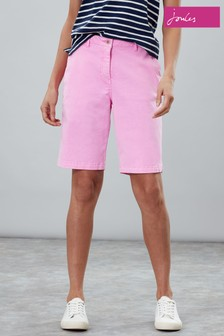 Joules Pink Cruise Long Chino Short