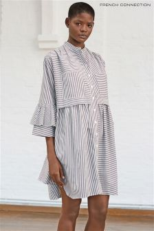 French Connection Black Summer Strap Oversized Shirt
