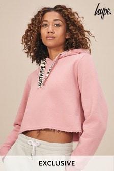 Hype. Pink Crop Hoody