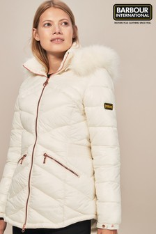 Barbour® International Superstock White Quilted Jacket
