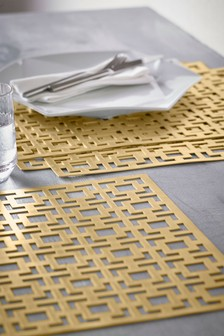 Set of 4 Geo Luxe Placemats