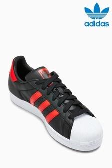 adidas Originals Black/Red Superstar