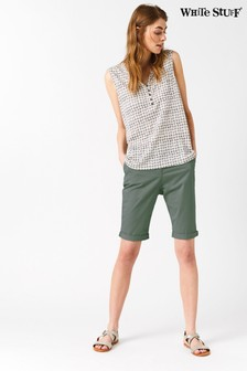 White Stuff Green Helter Skelter Short